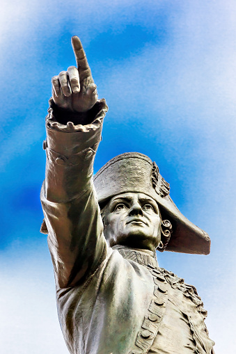 Major General「General Rochambeau Statue in Lafayette Park, Washington DC, USA」:スマホ壁紙(2)