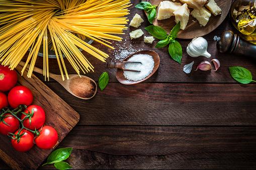 Garlic Clove「Italian pasta ingredients stock photo」:スマホ壁紙(3)