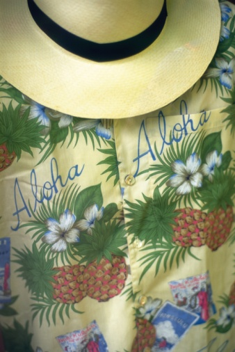 Floral Pattern「Photography of a straw hat and Hawaiian shirt, Front View」:スマホ壁紙(14)