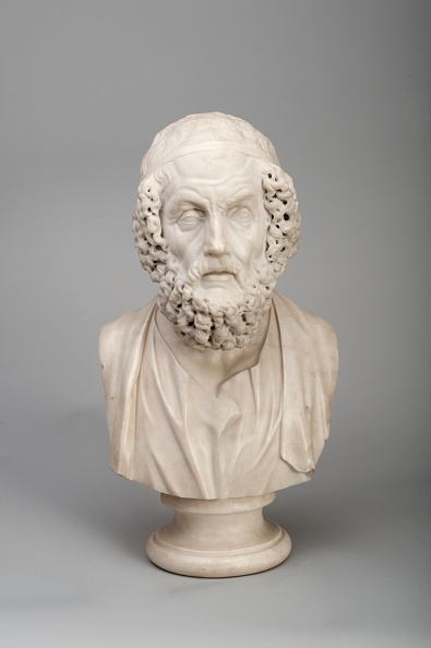Classical Greek「Marble Bust Of The Ancient Greek Poet Homer」:写真・画像(19)[壁紙.com]
