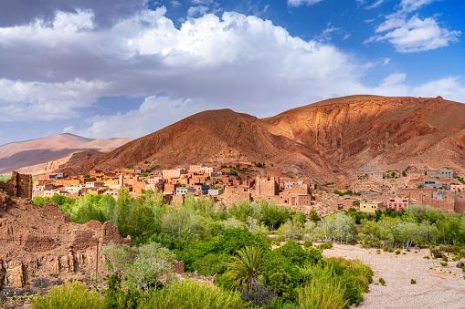 アトラス山脈「モロッコ-肥沃な川の谷、カスバ、町」:スマホ壁紙(3)