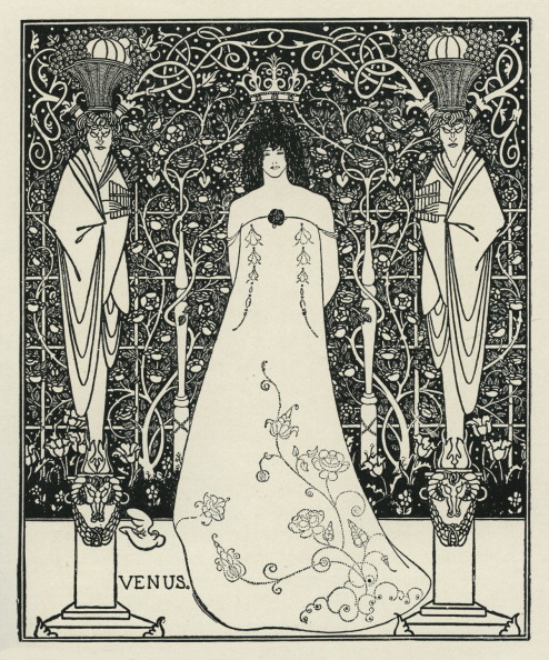 アールヌーボー「Venus and Tannhäuser by Aubrey Beardsley」:写真・画像(8)[壁紙.com]