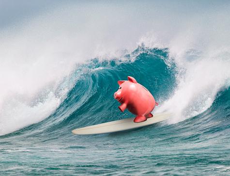 Positive Emotion「Piggy Bank Surfing」:スマホ壁紙(14)