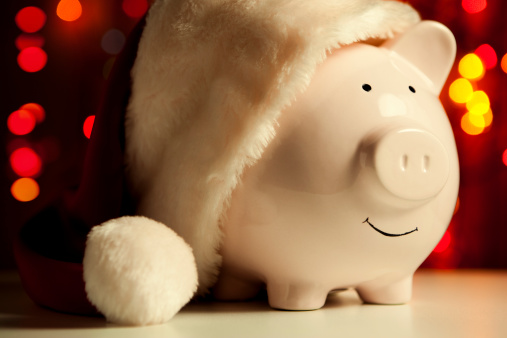Santa Hat「Piggy bank」:スマホ壁紙(14)