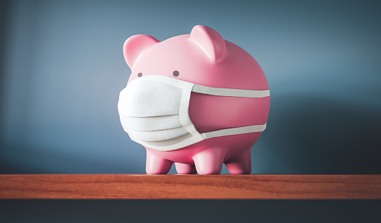 Insurance「Piggy Bank with Face Mask」:スマホ壁紙(17)