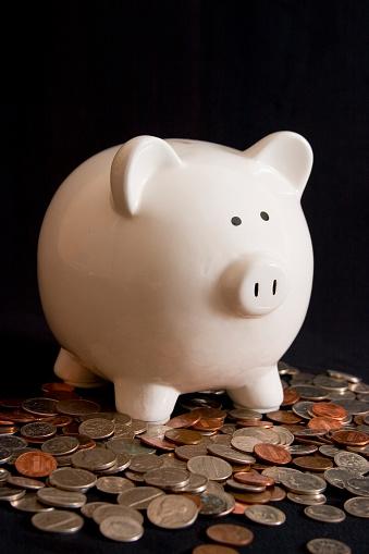 Money to Burn「Piggy Bank Amid Coins」:スマホ壁紙(12)