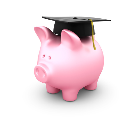 Graduation「Piggy Bank with Graduation Hat」:スマホ壁紙(5)