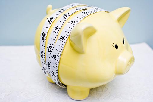 Belt「Piggy Bank with Measure Tape around it」:スマホ壁紙(6)