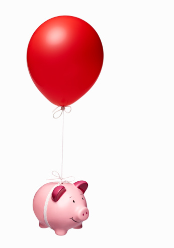 Freedom「Piggy bank with red balloon」:スマホ壁紙(8)