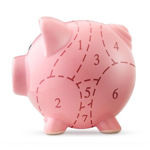 Piggy bank with pork cuts:スマホ壁紙(壁紙.com)