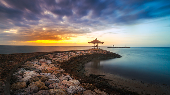 Balinese Culture「Sanur beach at sunset, Denpasar, Bali, Indonesia」:スマホ壁紙(18)