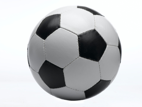 Sports Equipment「Football against white background, close-up」:スマホ壁紙(7)
