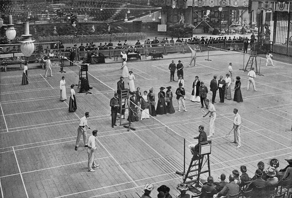 History「'A Badminton Tournament at the Crystal Palace', 1902, (1903)」:写真・画像(8)[壁紙.com]