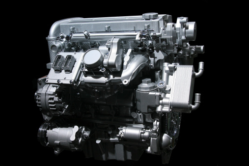 Vehicle Part「Car engine on black」:スマホ壁紙(9)
