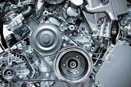 マクロ撮影「自動車エンジン」:スマホ壁紙(3)