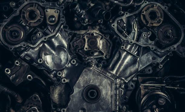 V8 car engine close-up:スマホ壁紙(壁紙.com)
