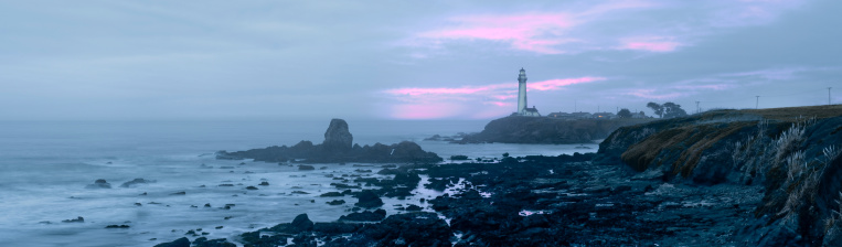 California State Route 1「Pigeon Point Lighthouse at dusk on Highway 1 between Half Moon Bay and Santa Cruz」:スマホ壁紙(6)