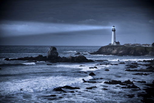 Big Sur「Pigeon Point lighthouse USA, California, Big Sur」:スマホ壁紙(13)