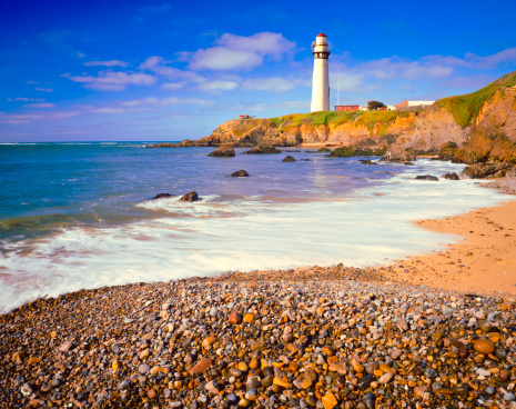 California State Route 1「Pigeon Point Lighthouse on California Coastline」:スマホ壁紙(1)
