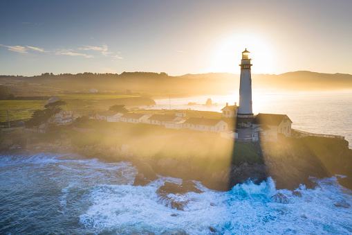Big Sur「Pigeon Point Lighthouse」:スマホ壁紙(1)