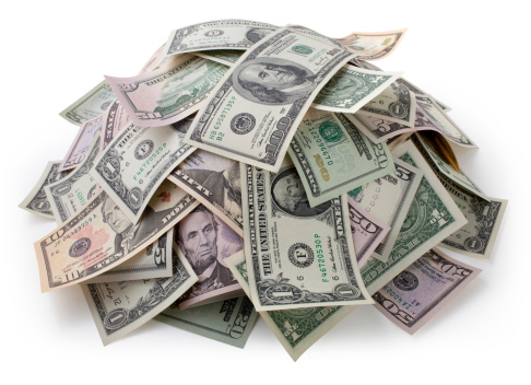 Paying「Heap of money. Dollar bills.」:スマホ壁紙(19)