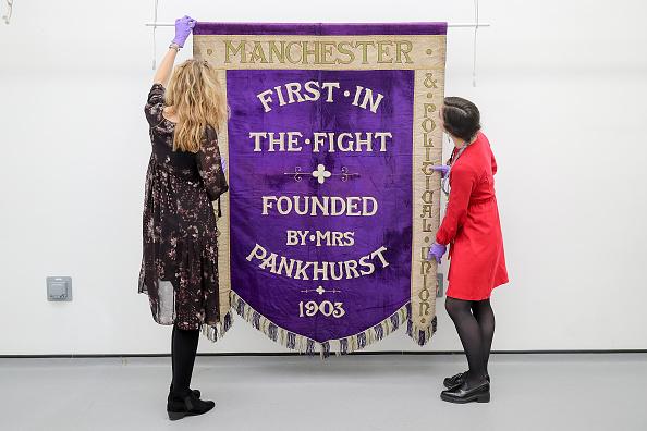 Christopher Furlong「Manchester's Suffragette Banner Moves Back To The City」:写真・画像(13)[壁紙.com]