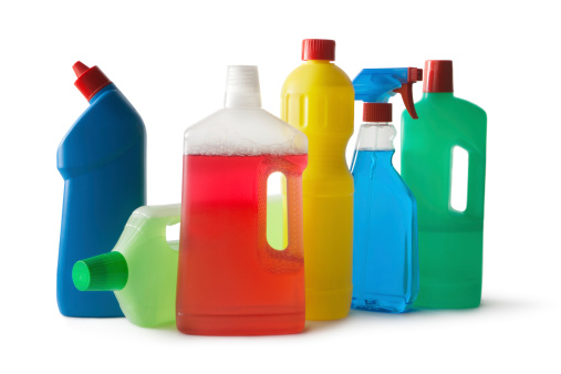 Spray Bottle「Cleaning: Cleaning Products Isolated on White Background」:スマホ壁紙(12)