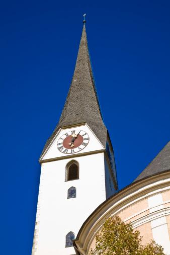 Salzkammergut「Catholic Church spire in Bad Ischl, Austria」:スマホ壁紙(15)