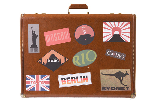 Kangaroo「Suitcase covered with stickers」:スマホ壁紙(17)