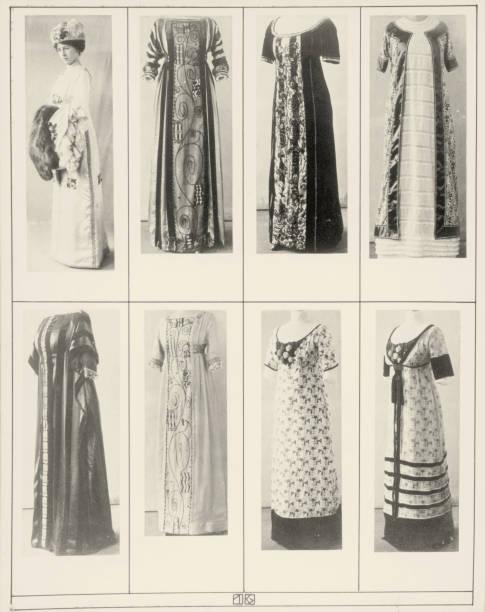 "Gowns and dresses of the Wiener Werkstaette. Photographs of the illustrated book ""Mode des Wiener-Werkstaetten-Archivs"". 1911.:ニュース(壁紙.com)"
