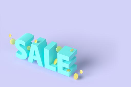 Credit Card Purchase「The inscription SALE on a purple background. 3D render illustration.」:スマホ壁紙(6)