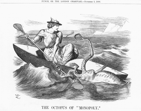 Octopus「'The Octopus of Monopoly, 1888. Artist: Joseph Swain」:写真・画像(19)[壁紙.com]