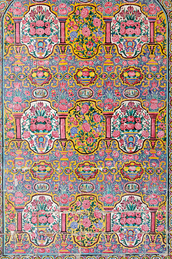 Iranian Culture「Floreal decorations of Vakil Mosque, Shiraz, Iran」:スマホ壁紙(17)