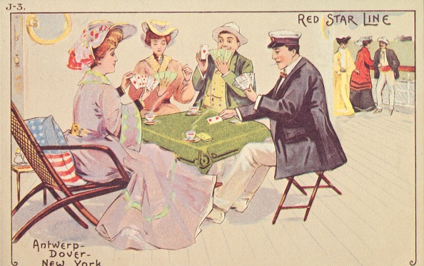 Passenger Craft「Passengers Play Cards On The Deck Of A Red Star Liner」:写真・画像(2)[壁紙.com]