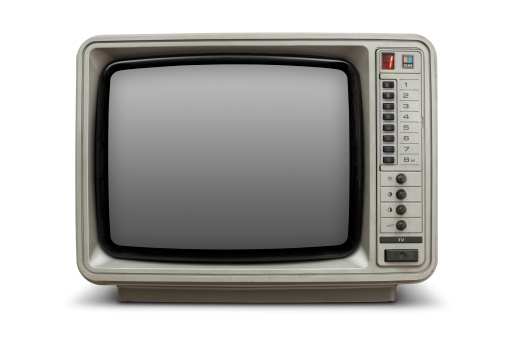 1980-1989「Vintage television with blank screen」:スマホ壁紙(12)