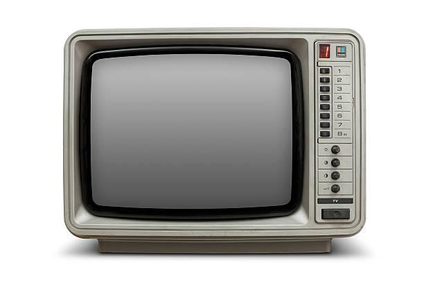 Vintage television with blank screen:スマホ壁紙(壁紙.com)