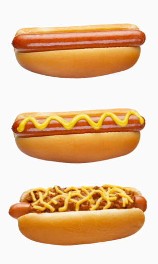 Hot Dog「Hot Dogs on white」:スマホ壁紙(16)