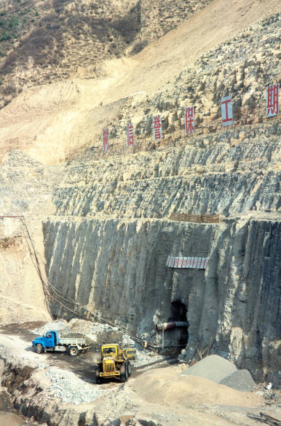 Tunnel entrace from the pumping station excavation in Shanxi province China:ニュース(壁紙.com)