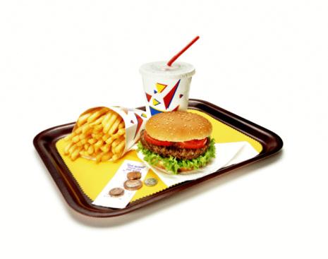 Hamburger「Burger, fries and soda on tray.」:スマホ壁紙(14)