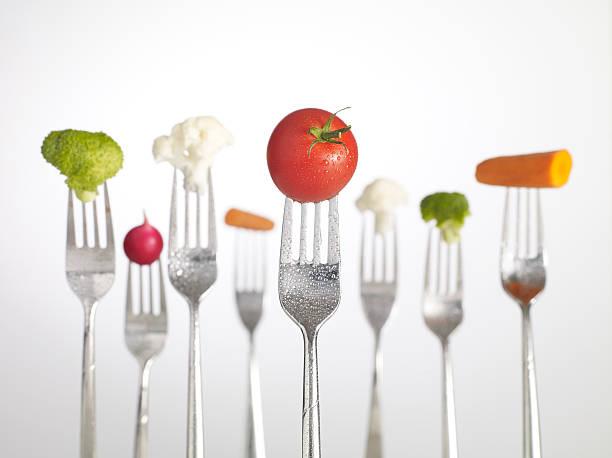 Raw Food on forks:スマホ壁紙(壁紙.com)