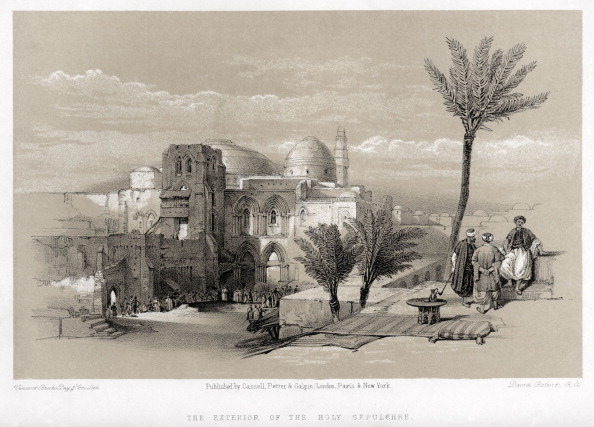 Church「Church of the Holy Sepulchre - exterior in Jerusalem. By David Roberts.」:写真・画像(17)[壁紙.com]