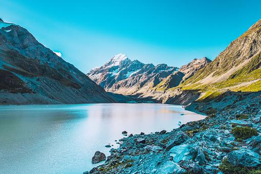 Southern Alps - New Zealand「Hooker Lake at Mount Cook National Park」:スマホ壁紙(18)