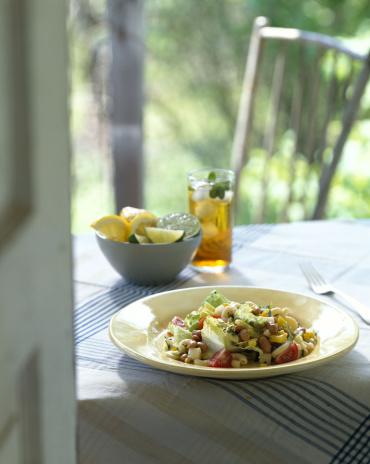 春「Garden salad with beans and pasta」:スマホ壁紙(14)
