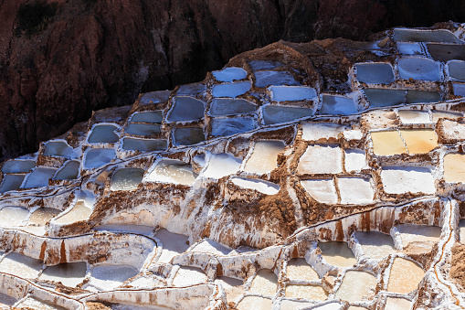 Urubamba Valley「Peru, Andes, Maras, salt ponds」:スマホ壁紙(16)