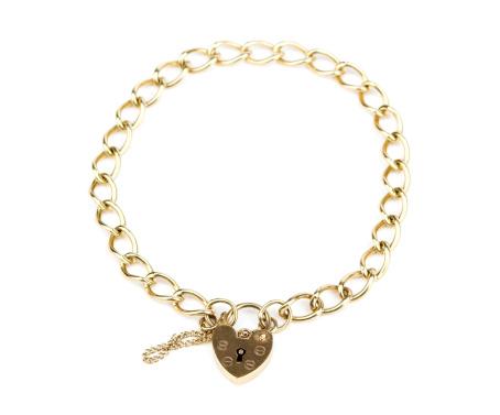 Bracelet「Gold Chain Bracelet With Heart Shaped Padlock Clasp」:スマホ壁紙(17)