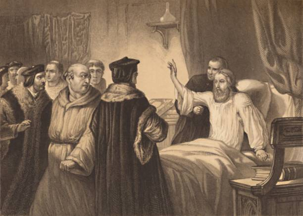Wycliffe On His Sick-Bed Assailed By The Friars 1886:ニュース(壁紙.com)