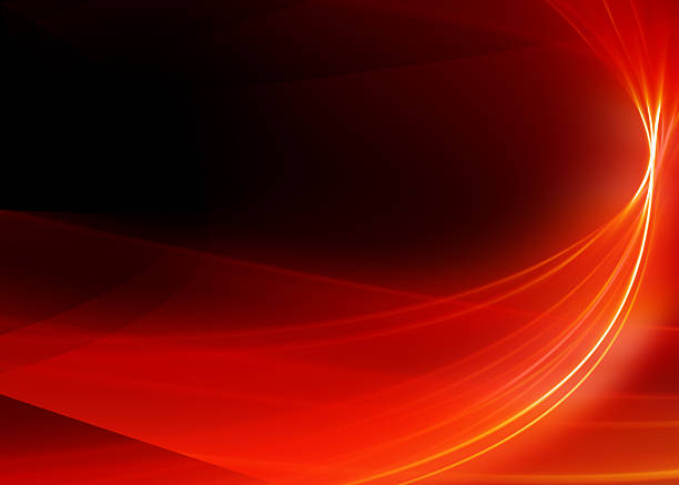 Abstract Background-Red Ribbon-High Quality Rendering:スマホ壁紙(壁紙.com)