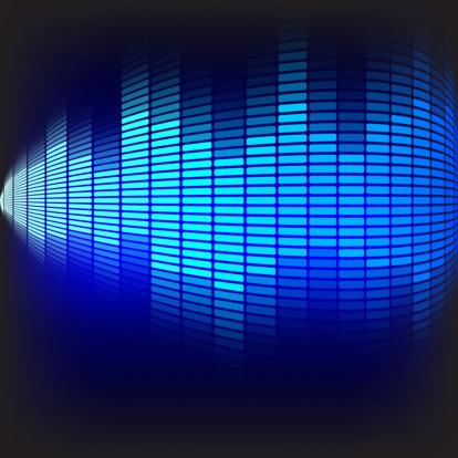 Emitting「Abstract Background - Blue Equalizer」:スマホ壁紙(0)