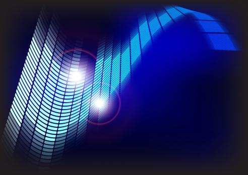 Emitting「Abstract Background - Blue Equalizer」:スマホ壁紙(4)