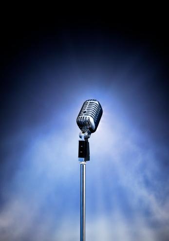 Dry Ice「Classic Retro Style Modern Microphone on Stage (XXXL)」:スマホ壁紙(18)